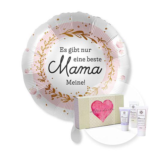 - Ballon Es gibt nur eine beste Mama...Meine! und Handpflegeset Alles Liebe - Onlineshop Valentins