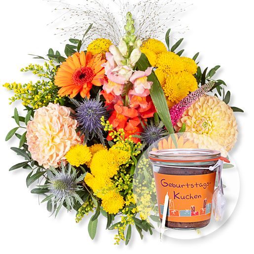 - Colours und Kuchen im Glas Geburtstag - Onlineshop Valentins