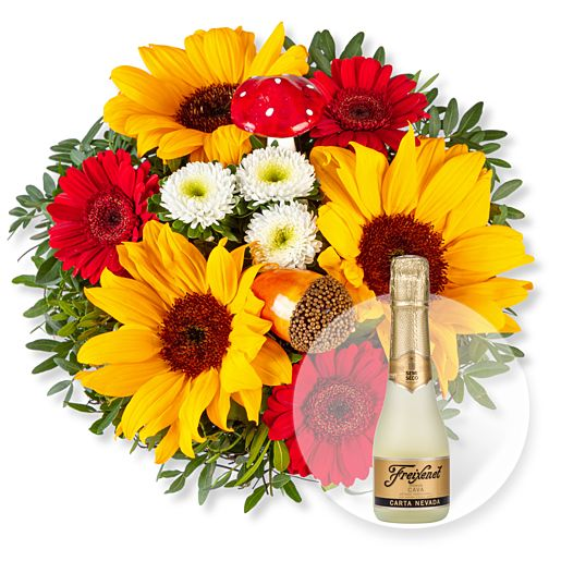Nützlichblumen - Happy Day und Freixenet Semi Seco - Onlineshop Valentins