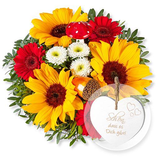 Nützlichblumen - Happy Day und Vintage Herz Schön, dass es Dich gibt! - Onlineshop Valentins