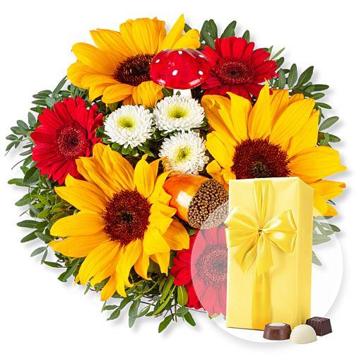 Nützlichblumen - Happy Day und Belgische Pralinen - Onlineshop Valentins