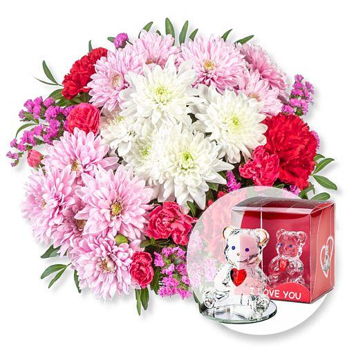 - Flair und Glasbär mit Herz - Onlineshop Valentins