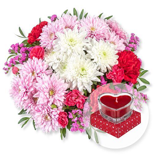 - Flair und Herzkerze in Geschenkpackung - Onlineshop Valentins