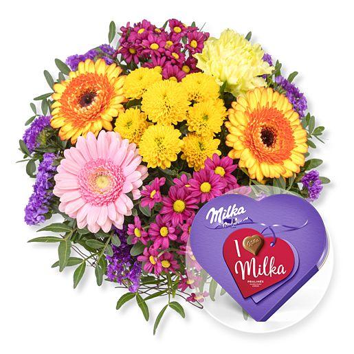 Nützlichblumen - Alles Liebe und I love Milka Pralinés - Onlineshop Valentins