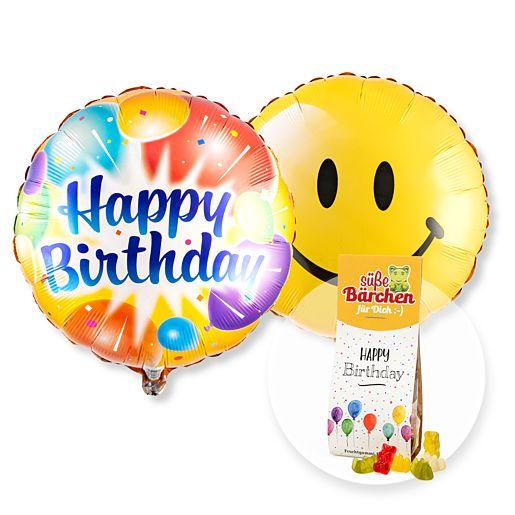 Partybedarfballons - Ballon Set Happy Birthday! und Fruchtsaftbären Happy Birthday - Onlineshop Valentins