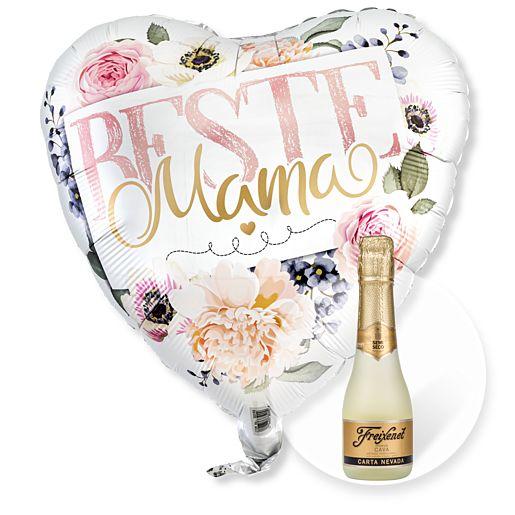 - Ballon Beste Mama Rosen und Freixenet Semi Seco - Onlineshop Valentins