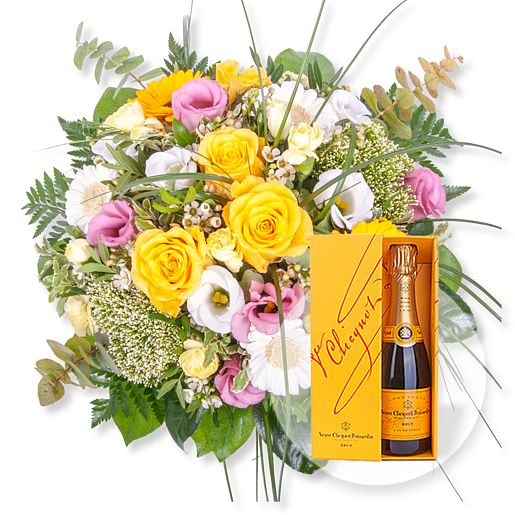 Florence und Champagner Veuve Clicquot