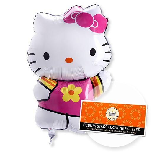 Ballon Hello Kitty und Geburtstagskuchenersetzer