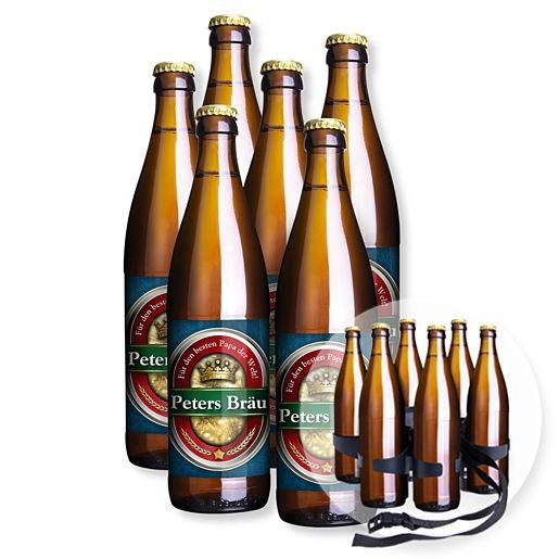 Mein eigenes Bier (6x0,5l) und Biergürtel