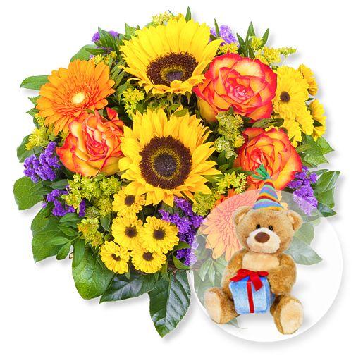 Sunny Day und Glückwunsch-Teddy