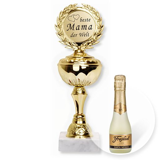 Pokal Beste Mama und Freixenet Semi Seco