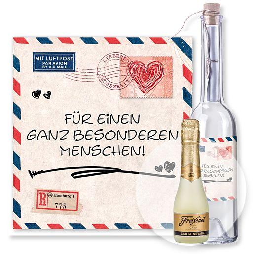 Individuellbesonders - Flaschenpost Airmail und Freixenet Semi Seco - Onlineshop Valentins