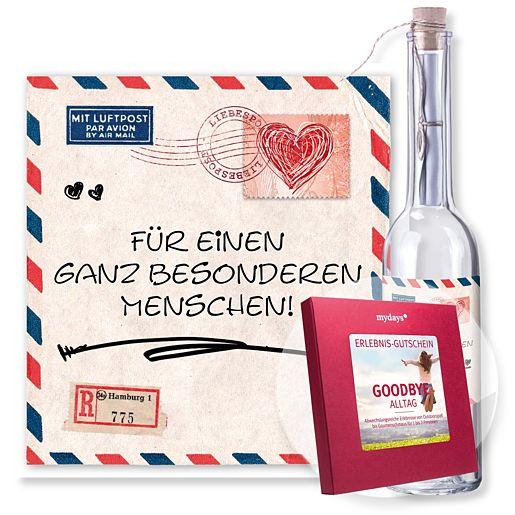Flaschenpost Airmail und mydays Box: Goodbye Al...