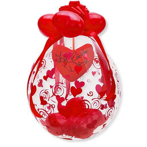 Partybedarfballons - Stuffer Ballon Ich liebe Dich! - Onlineshop Valentins