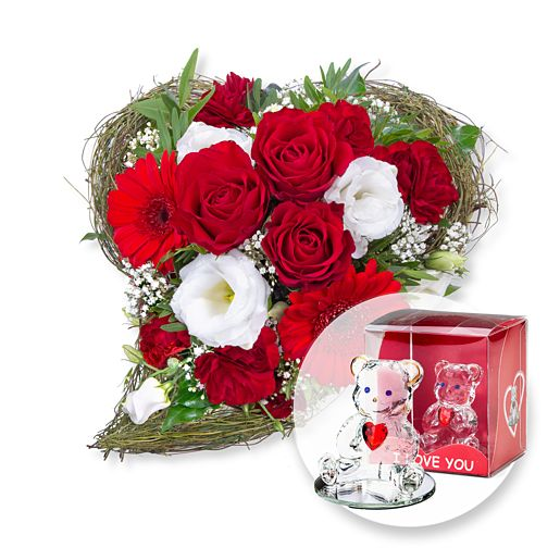- Amore und Glasbär mit Herz - Onlineshop Valentins