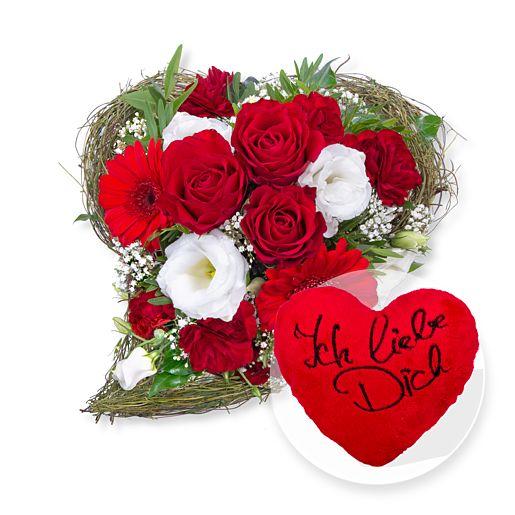 Nützlichblumen - Amore und Kuschel Herz Ich liebe Dich - Onlineshop Valentins