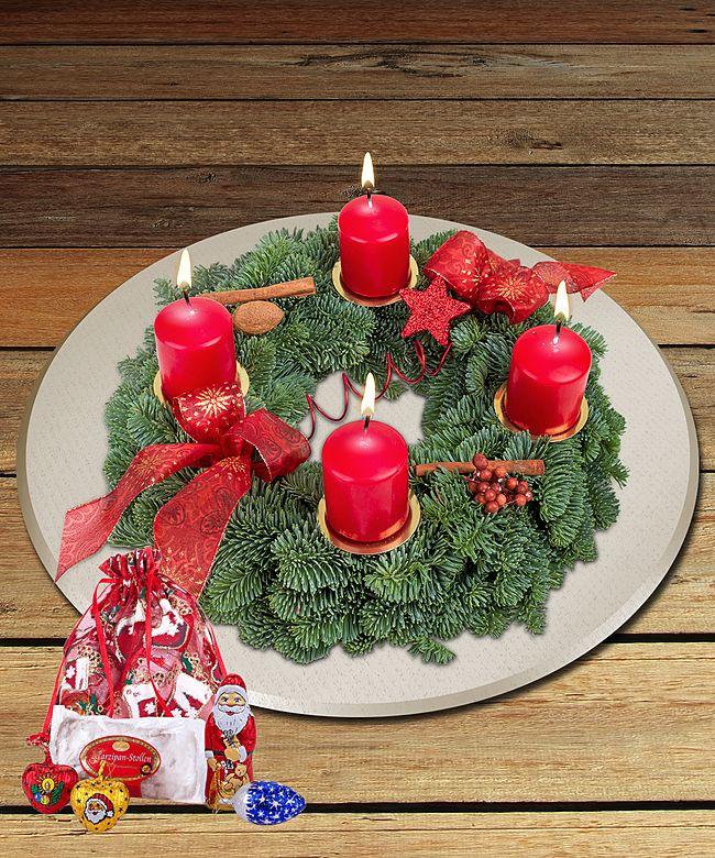 Adventskranz Advent, Advent Und GRATIS Süßer Nikolausgruß