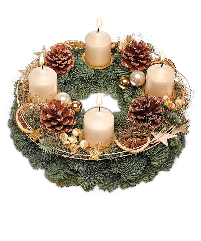 adventskranz goldene zeit jetzt bestellen bei valentins. Black Bedroom Furniture Sets. Home Design Ideas