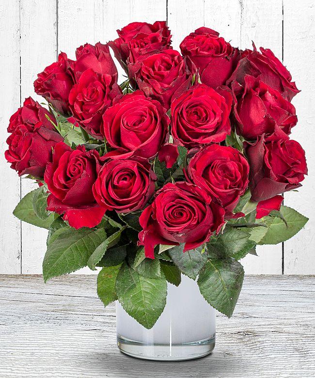 18 rote rosen jetzt bestellen bei valentins valentins blumenversand blumen und geschenke. Black Bedroom Furniture Sets. Home Design Ideas
