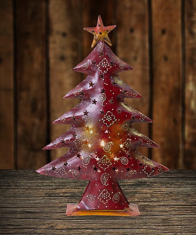 Windlicht Metall-Weihnachtsbaum - jetzt bestellen bei Valentins ...