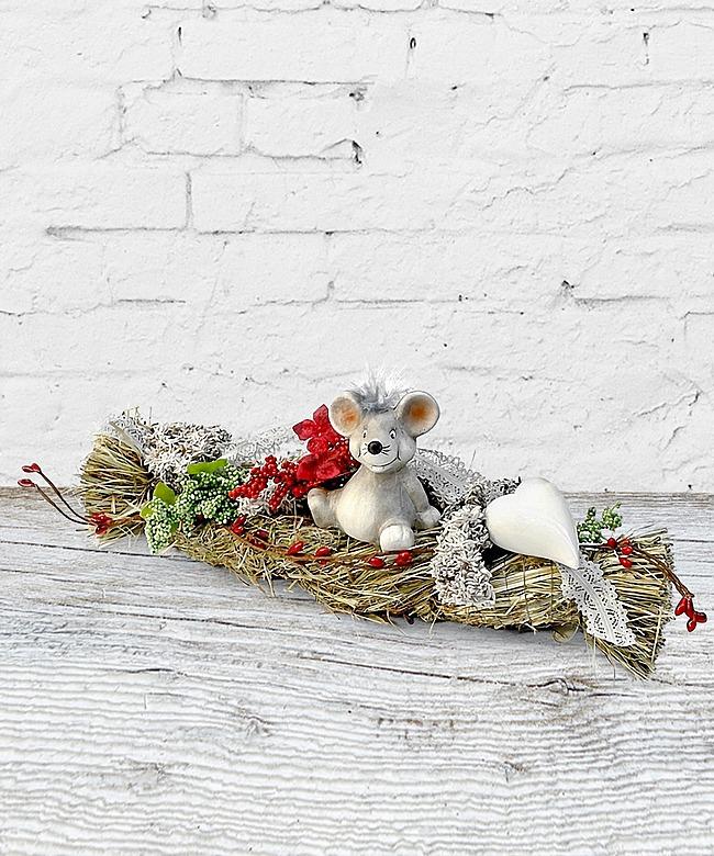 Tischdekoration Maus mit Herz (28cm) - jetzt bestellen bei Valentins ...