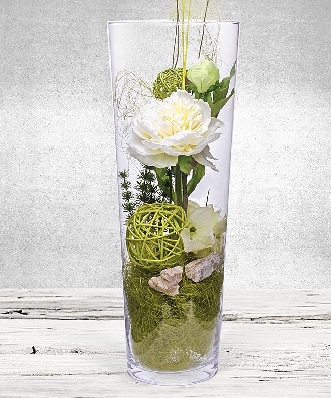deko vase paeonie wei 40cm jetzt bestellen bei. Black Bedroom Furniture Sets. Home Design Ideas