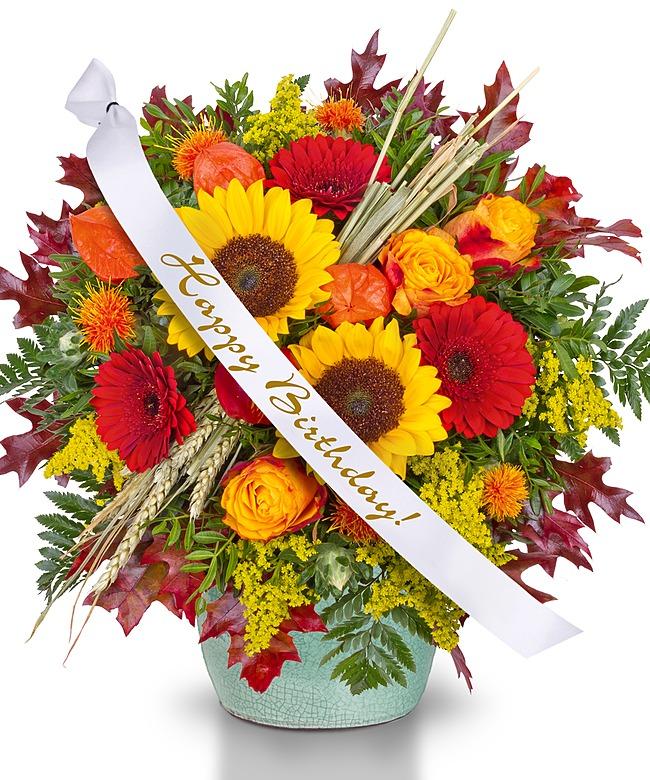 Geliebte Goldener Herbst mit Schleife: Happy Birthday! - jetzt bestellen &CW_91