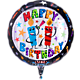 Singender Ballon Happy Birthday Kerzen und Happy-Birthday-Kuchen